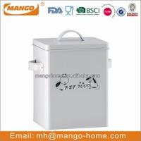 Colorful Rectangular Powder Coating metal pet food storage containers