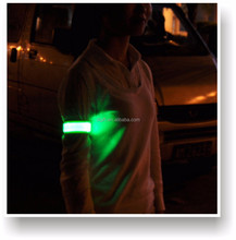 Promotion Hot sale ! LED reflective wristband led reflective slap bands Flashing LED Wristband