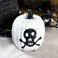 Silver Design Wholesale White Craft Resin Pumpkins Halloween for Adults Crafts