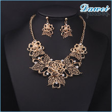 necklace set for China wholesale 2015 fashion luxury simple gold flower chain