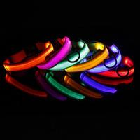 Colorful led flashing dog collar for medium and large dog