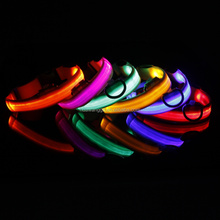 Colorful led flashing dog collar for medium and large dog