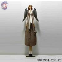 Unique garden angel girl figurine for garden decorations