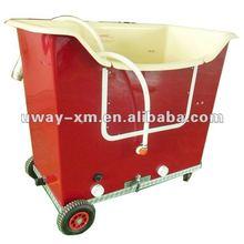 UW-ST205 Movable auto-filling design single water tank fiberglass-reinforced red dog grooming bathtub,dog hydrobath