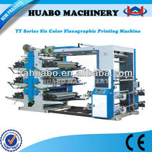 The newest Manufacturer HB 6 colors flexographic printing machine