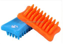 silicone rubber pet brush dog cat sheep pig bath groom brush