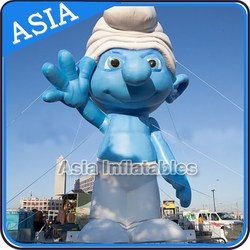 Giant Advertising Cartoon Blue Man Balloon for Party Rentals with Logo