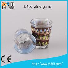 2014 new custom design glass ware,small wine glass cup