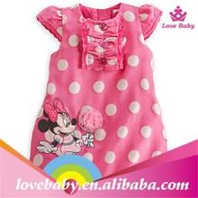 Hot Sale Girls Dresses, New Designer cotton 2015 summer cartoon cat child clothing baby dress princess dress LBS50601303