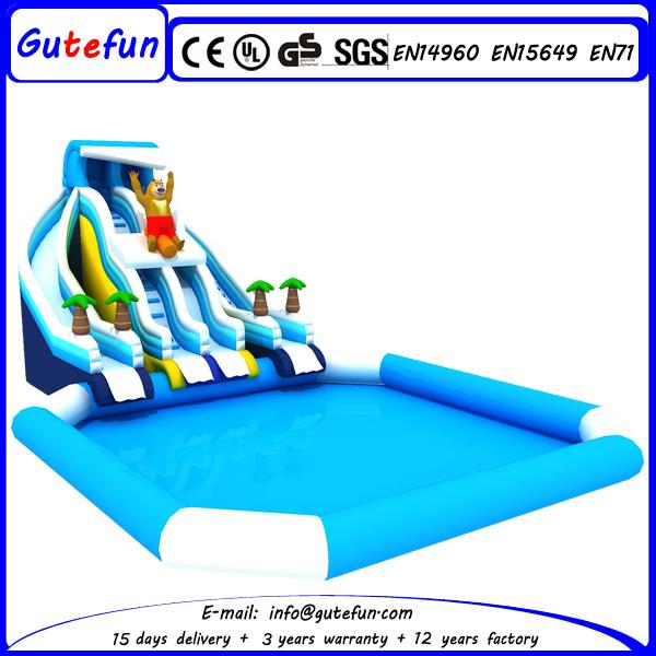 Super Nouveau design grand toboggan gonflable avec piscine pour enfants  QH94