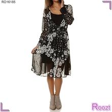 África Inspirado Ropa Flor Impreso Knit Casual vestidos largos maxis