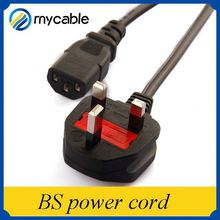 UK British Standard c7 power cord BS Power cord for home appliances
