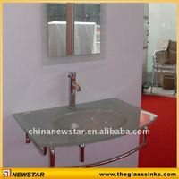Tempered glass vanity bathroom appliance