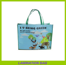 cartoon character non woven pp laminated imprinted tote bags