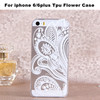 New Arrival Factory Customize Hot Sell Pierced Carving Flower Soft Gel TPU Case For iphone 6 4.7 6plus 5.5inch for iphone 4 5 5s