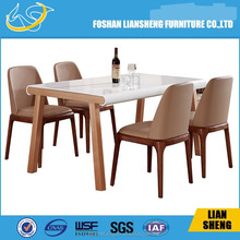 DT014 2015 New design simple Modern extendable round dining table, wood furniture,dining room furniture Foshan