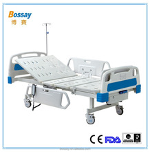 CE FDA ISO13485:2003 Certified BS - 827 Two Functions Electric Hospital Beds With 2 Revolving Levers