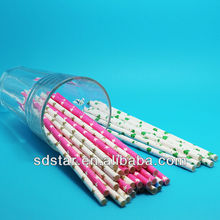 Paper straw for party favor, food grade paper straw eco-friendly