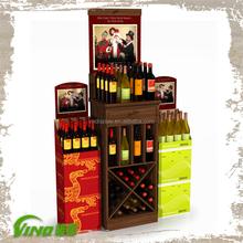 Costco Wooden Beverage Wine Liquor Display Rack