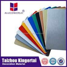 2014 Best quality Alucoworld 20 years warranty pvdf acm advertising decorative vinyl siding panel