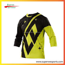 OEM custom Sublimated BMX shirts jerseys Mountain Bike Tops Racing Wear