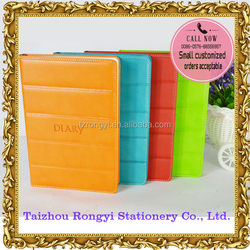 2016 PU cover groove diary with colorful edge