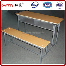 Professional plywood board school desk and bench for child