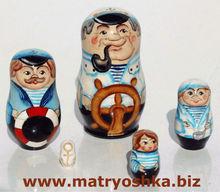 Hombre marinero. navy, mar, muneca rusa de 5 unidades matryoshka figura de madera de anidación, venta de muñecas tradicionales