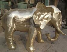 Park decoration brass elephant sculptures
