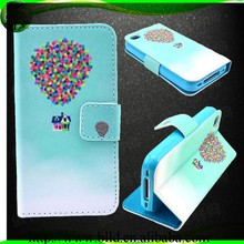 Fashion PU customize image Leather Wallet Flip Case Cover for Iphone 5