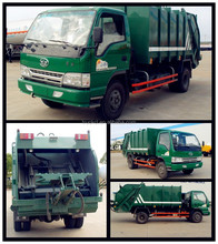New Condition FAW rear Compressed Garbage Truck FAW Mini garbage truck