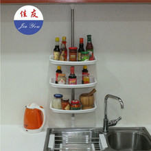 JYXF 3 tier wall mount kitchen spice hanging rack JYC-030A