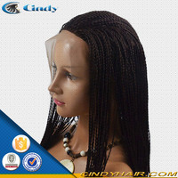 good price premium quality 5 a grade peruvian hair girl micro braided lace front wigs for black women