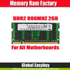 TSOP packing 2gb 800mhz ddr2 notebook ram