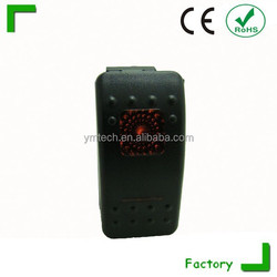 high quality caravan/led switch panel used for lorry/minivan white black rocker switch