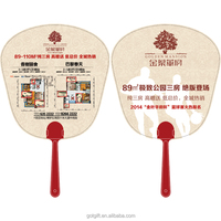 Factory Advertising Plastic Hand Fan With Logo