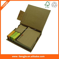 Craft paper sticky notepad,memo pad with arrow sticky notes in hard case
