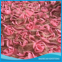 100% polyester super soft cashmere rose fleece fabric