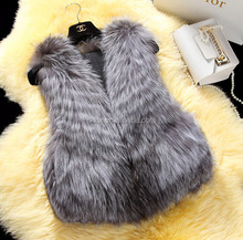 Fluffy and smooth 100% real fox fur vest