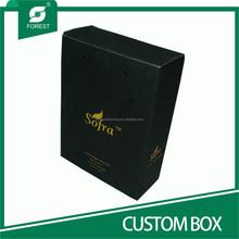 BLACK VARNISHED CARDBOARD CUSTOM BOX FOR PACKING OLIVE OIL