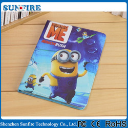 for ipad mini despicable me minion leather case, for ipad mini minion case, minion despicable me 2 case for ipad mini
