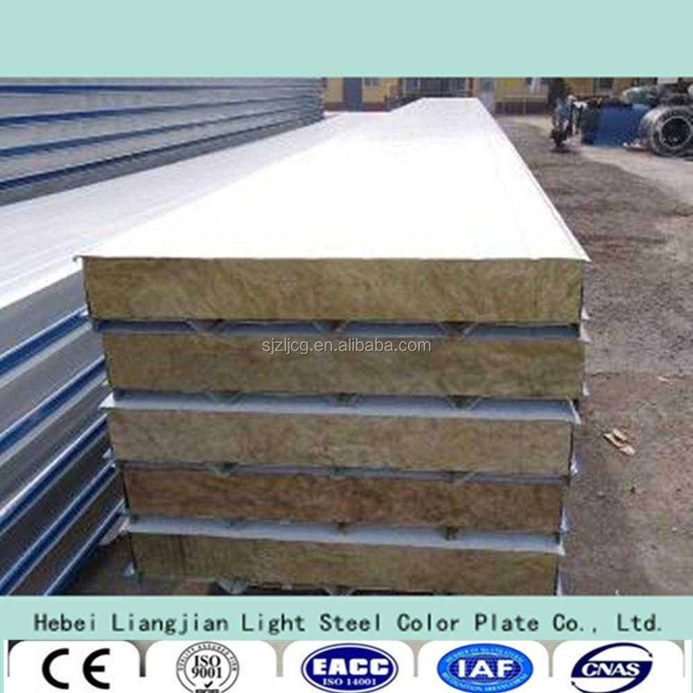 Rock Wool Sandwich Panel : Eps rock wool glass sandwich panel for wall roof with