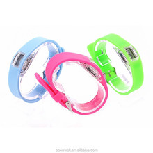 2015 new model LED silicone rubber wristband watch