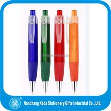 Promotional Plastic Trillion shape triangular Ball Pen Black Rubber oblate tube and grip Pen