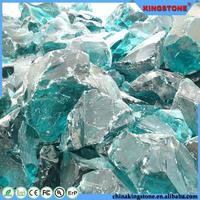 China supplier 1 mm and up to 100cm colorful glass rock for landscapings