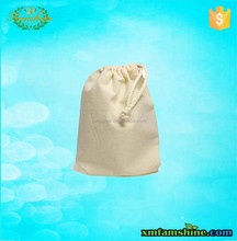 natural small cotton drawstring bags