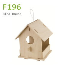 Unfinished wooden craft pet cage