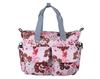 Flower Printing Deluxe Designer Diaper Tote Bag