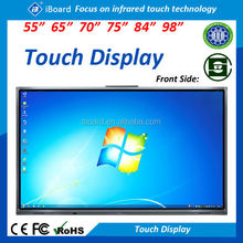"Large size 55"" 65"" 70"" 84"" 98"" LED/LCD Infrared Touch Screen/LED all in one PC touch Monitor/interactive screen for education"