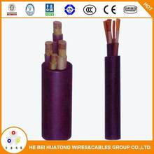 Movable light-type rubber flexible mining cable